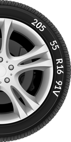 Select your tyre size and speed rating